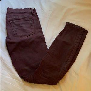 GAP burgundy skinny jean